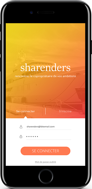 presentation sharenders sur un iphone